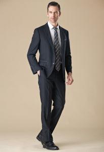 Italian Classic Black Prom Wedding Suit for Men pictures & photos