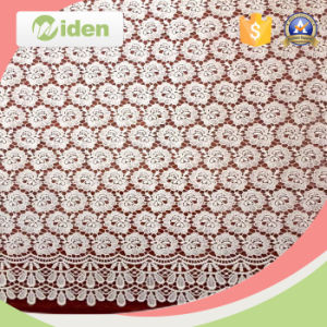 Milky Poly Embroidery Chemical Spider Web African Net Lace Fabric pictures & photos