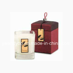 Luxury Natural Soy Candle in High End Glass Jar with Cardboard Box