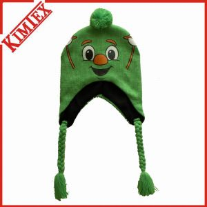 100% Acrylic Knitted Beanie Cap Hat with Earflap pictures & photos