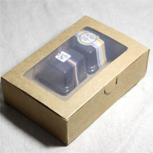Handmade Paper Cardboard Cookies Packing Gift Box with Window pictures & photos