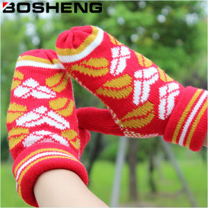 Fashion Women Knitted Warm Cotton Full Finger Glove
