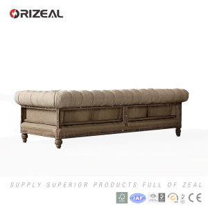 Orizeal Living Room Set Solid Oak Deconstructed Chesterfield Sofa (OZ-FS-2038) pictures & photos