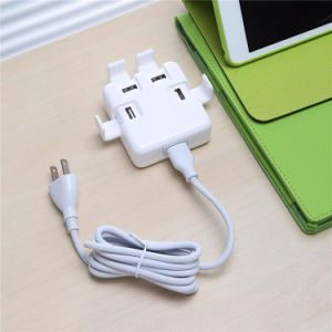High Quality Multi Port USB Chargers 4 Port Smart USB Charger 5V DC Jack pictures & photos