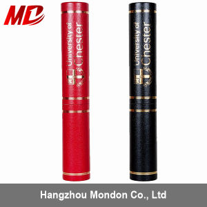 Red Litchi Stria with Gold Foil Circles&Logo Diploma Tube for Graduation Certificate pictures & photos