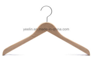 Customed Logo Luxury Natural Wooden Hanger for Clothes (YLLT6606) pictures & photos