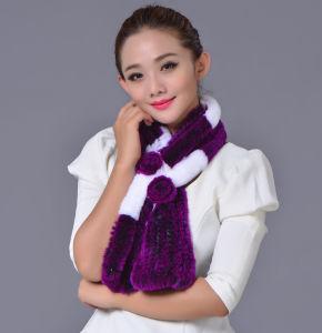 Women Fashion Long Rex Rabbit Fur Scarf (YKY4397) pictures & photos