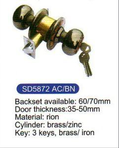 587 Top Hot Sale Round Knob Door Lock pictures & photos