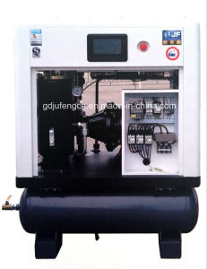 Jufeng Screw Air Compressor Jf-15at Direct Driven with Air Tank (10 Bar) 15HP/11kw