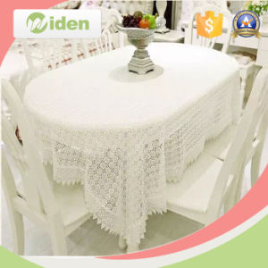 White Milky Poly Chemical Lace Fabric for Tablecloth pictures & photos