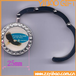 Foldable Purse Hook with Custom Logo Epoxy (YB-pH-06) pictures & photos