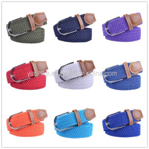 Unisex Fashion Sports Leisure Jeans Stretch Woven Elastic Polyester Webbing Belt pictures & photos