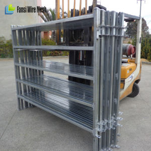 Galvanized 6 Bars Steel Cattle Yard Panels pictures & photos