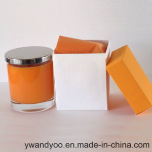 Decorative Scented Soy Gift Candle in Glass with Metal Lid