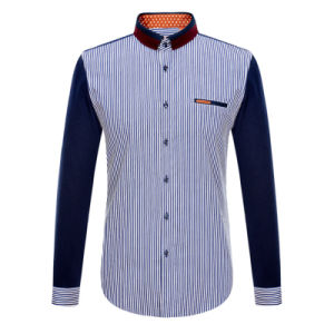 2016 Fashion Stripe Luxury Formal Business Men Shirt