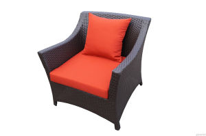 Popular Red Rattan Lounge Set 4PCS pictures & photos