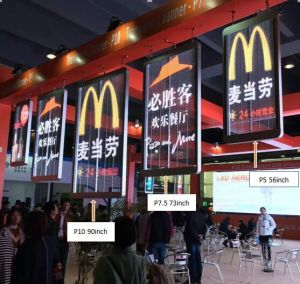 P10 Indoor Transparent Banner LED Display Wall LED Screen