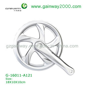 Gw-16011-A121 Alloy White Bike Chainwheel/Bike Spare Parts of Chainwheel