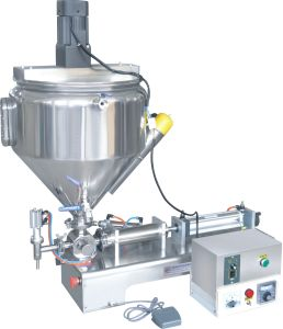 Horizontal Paste Filling Machine with Deluxe Heating Tank and Mixer Filler pictures & photos