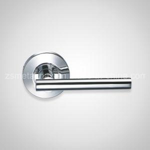 Stainless Steel Wooden Interior Door Lever Handle (ZS014) pictures & photos