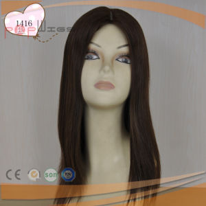 Hand Tied Lace Base Natural Color High Quality Women Wig (PPG-l-0962) pictures & photos