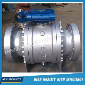 API 6D Cast Steel 3PC Trunnion Mounted Ball Valve pictures & photos