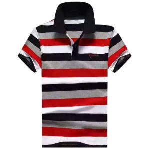 2016 Fashion Man Yarn Dyed Stripe Polo Shirt pictures & photos
