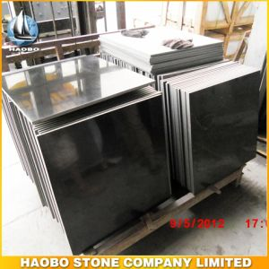 Haobo Stone Menggoo Black Granite Tiles for Sale pictures & photos