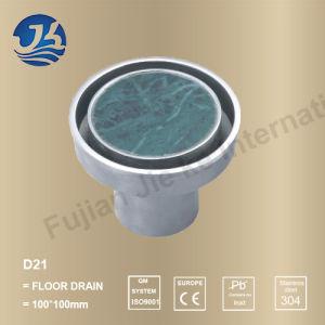Decorative Concrete Stainless Steel Bathroom Hardware Floor Drain (D21)