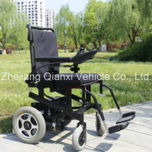 Electric Power Wheelchair with Paded Seat and Paded Back for Elderly (XFG-107FL) pictures & photos