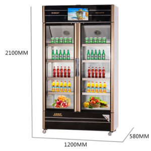680L Two Opening Glass Doors Multimedia Showcase with LED Screen pictures & photos