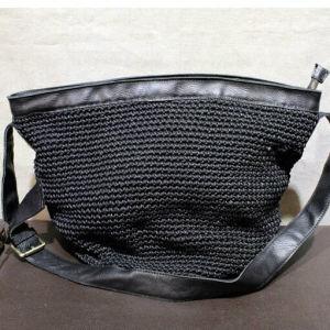 Original Hand-Woven Cotton and Line Bag Genuine Leather Women Handbags Female Shoulder Bag