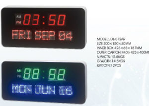 Electronic LED Display Calendar Clock with Day and Date pictures & photos