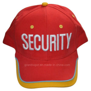 Custom Security 6 Panels Cotton Baseball Cap with Pipings pictures & photos
