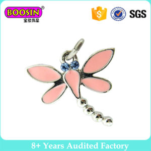 Fancy Enamel Beautiful Dragonfly Pendants Charms for Necklace pictures & photos
