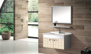 Stainless Steel Bathroom Vanity with Shelf (T-9580) pictures & photos
