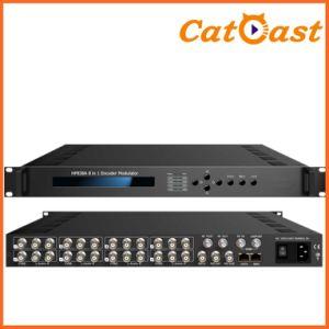 8in1 AV Encoder Modulator with 8xav+1DVB-C Tuner+1asi Input pictures & photos