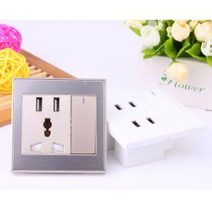 Factory Price of Wall Socket, Electrical Socket, Universal USB Charger, Mini USB Socket with USB 4 Port pictures & photos