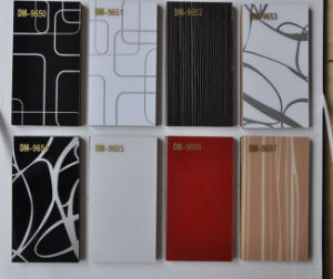 High Glossy Acrylic MDF Panel in Solid Color and Designed Color (ZHUV) pictures & photos