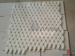 Light Brown Stone Marble Wall Mosaics for Indoor Decoration pictures & photos