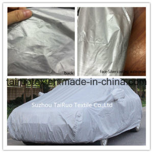 Outdoor Car Cover of Silver Coated Fabric with High Waterproof pictures & photos