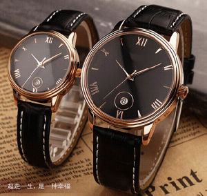 Water Resistant Quartz Movement Momen Watch with Date Function