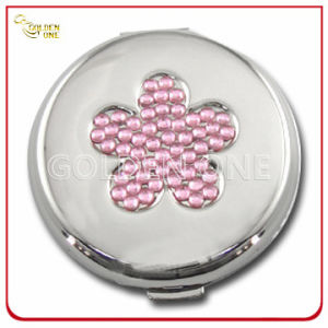 Shiny Flower Crystal Stone Printed Metal Makeup Mirror pictures & photos