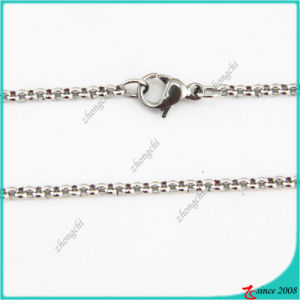 Stainless Steel Silver Chain Necklace Jewelry
