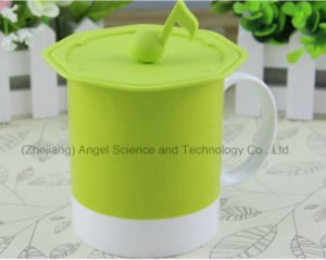 Musical Note Silicone Lid for Tea Cup Silicone Cover for Mug SL13 pictures & photos