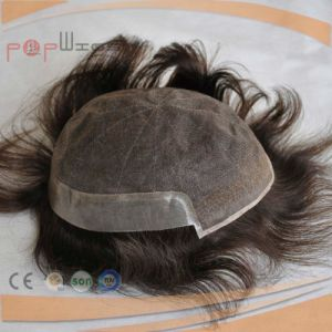 Human Hair Brown Color Lace Front Mens Toupee pictures & photos