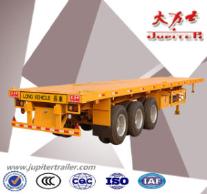40ft Flatbed Cargo Container Semi Trailer