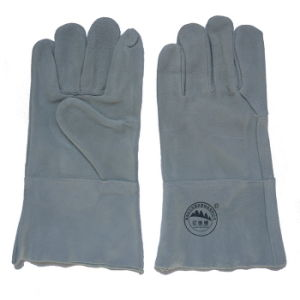 Cowhide Welding Working Gloves with Kevlar Thread pictures & photos