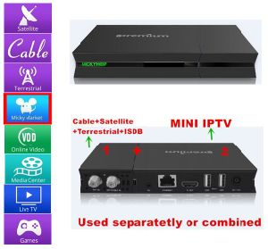 The Newest Android TV Box Support DVB-S2+DVB-T2 / DVB-C / ISDB-T+IPTV pictures & photos