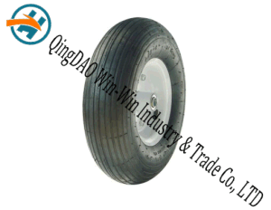 "Wear-Resistant Pneumatic Rubber Wheel with Steel Rim (13""X4.00-6) pictures & photos"